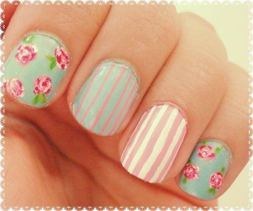 inspire-se nas unhas decoradas com flores