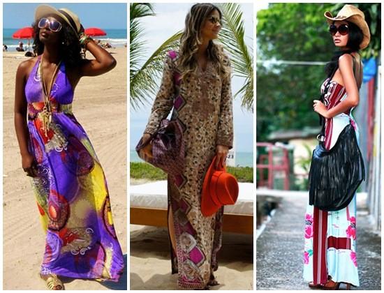 vestido longo para usar na praia