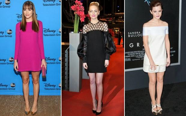 celebridades usando Shift Dress