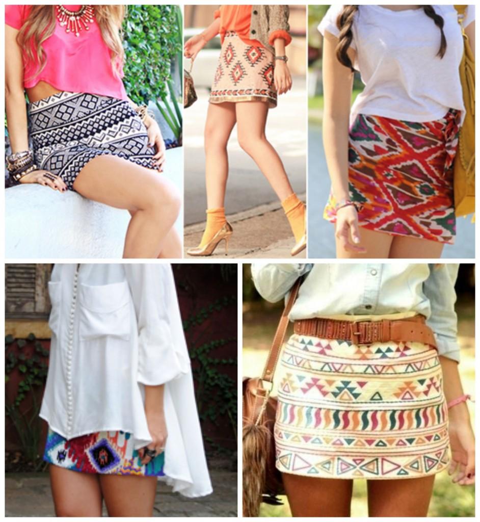 lindas saias estampadas