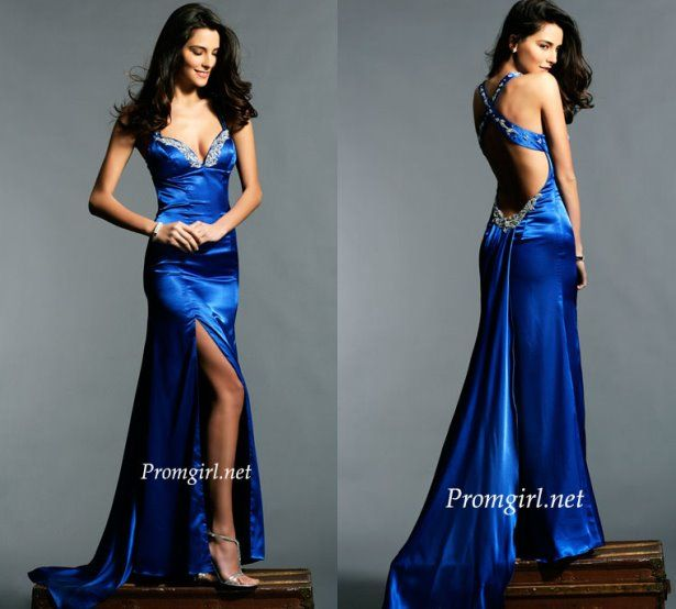Vestido azul royal para negras