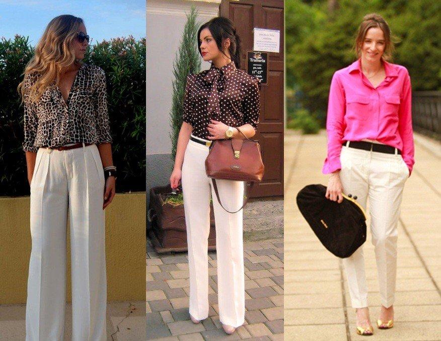 calça branca pantalona