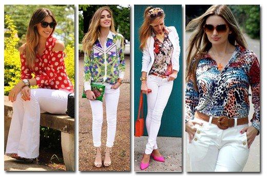 fotos de mulheres usando calça branca