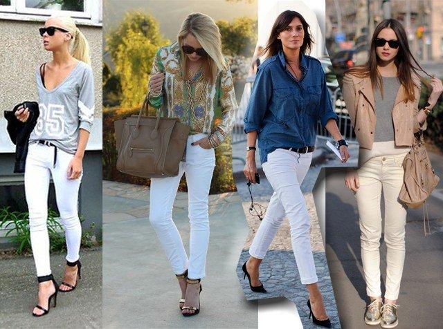 produção com calça branca