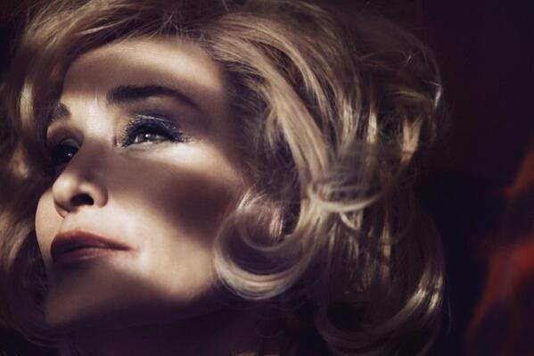 Jessica Lange em uma campanha publicitária