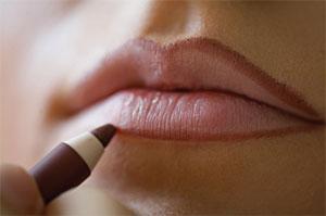 lápis de boca para o make