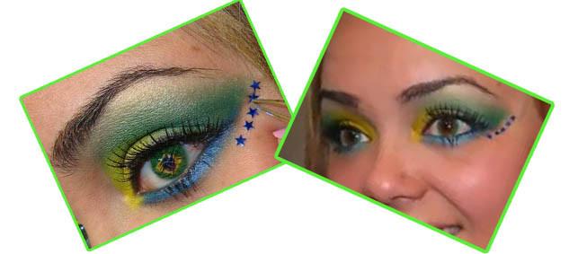 estilo de maquiagem para a copa do mundo 2014