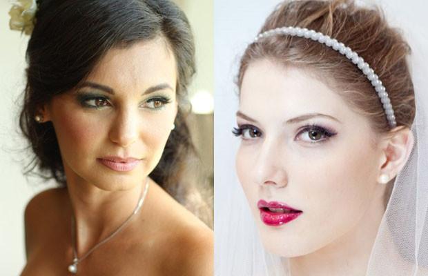 ilustração de maquiagem para noivas que casam durante o dia