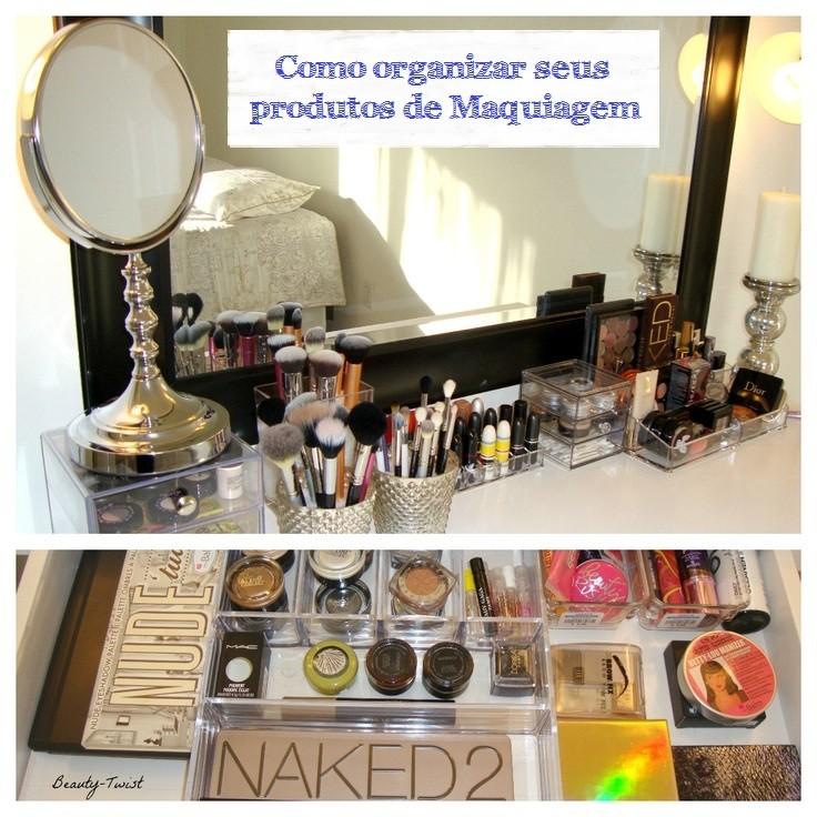 organizar maquiagem