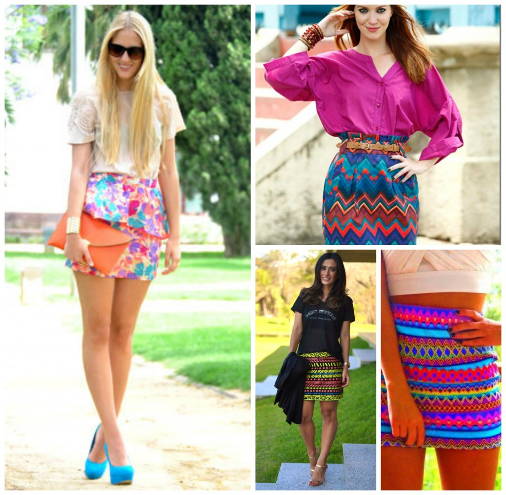 idéias de saias estampadas