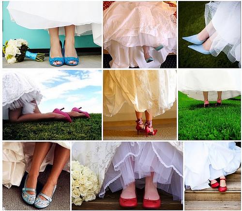sapatos não tradicionais para noivas