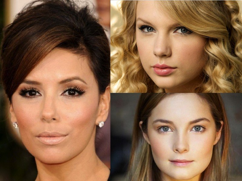 fotos de mulheres usando sombra marrom