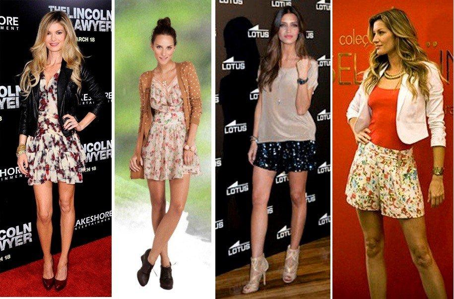 look usando roupas curtas para mulher alta e magra