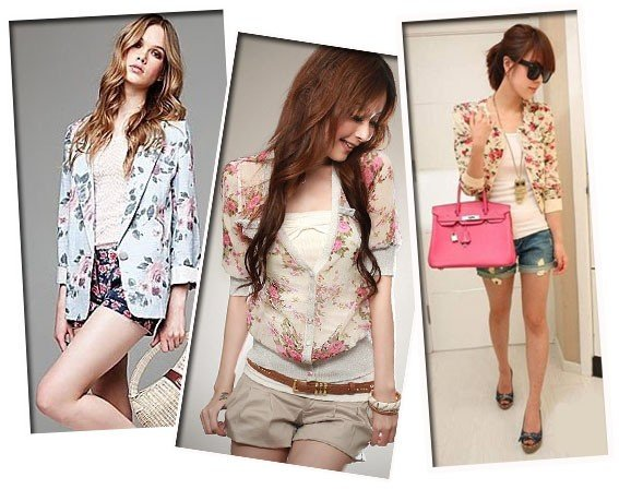look delicado com estampas florais