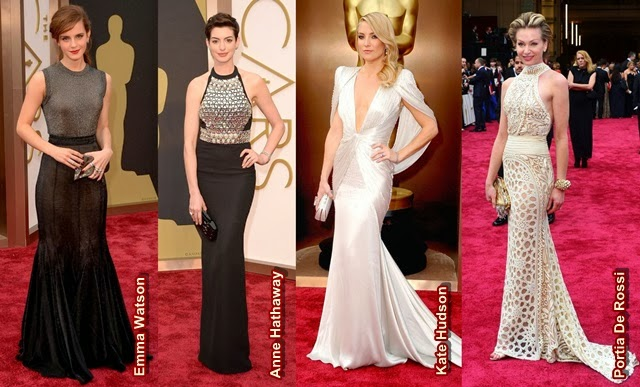 atrizes lindas com seus looks do Oscar 2014