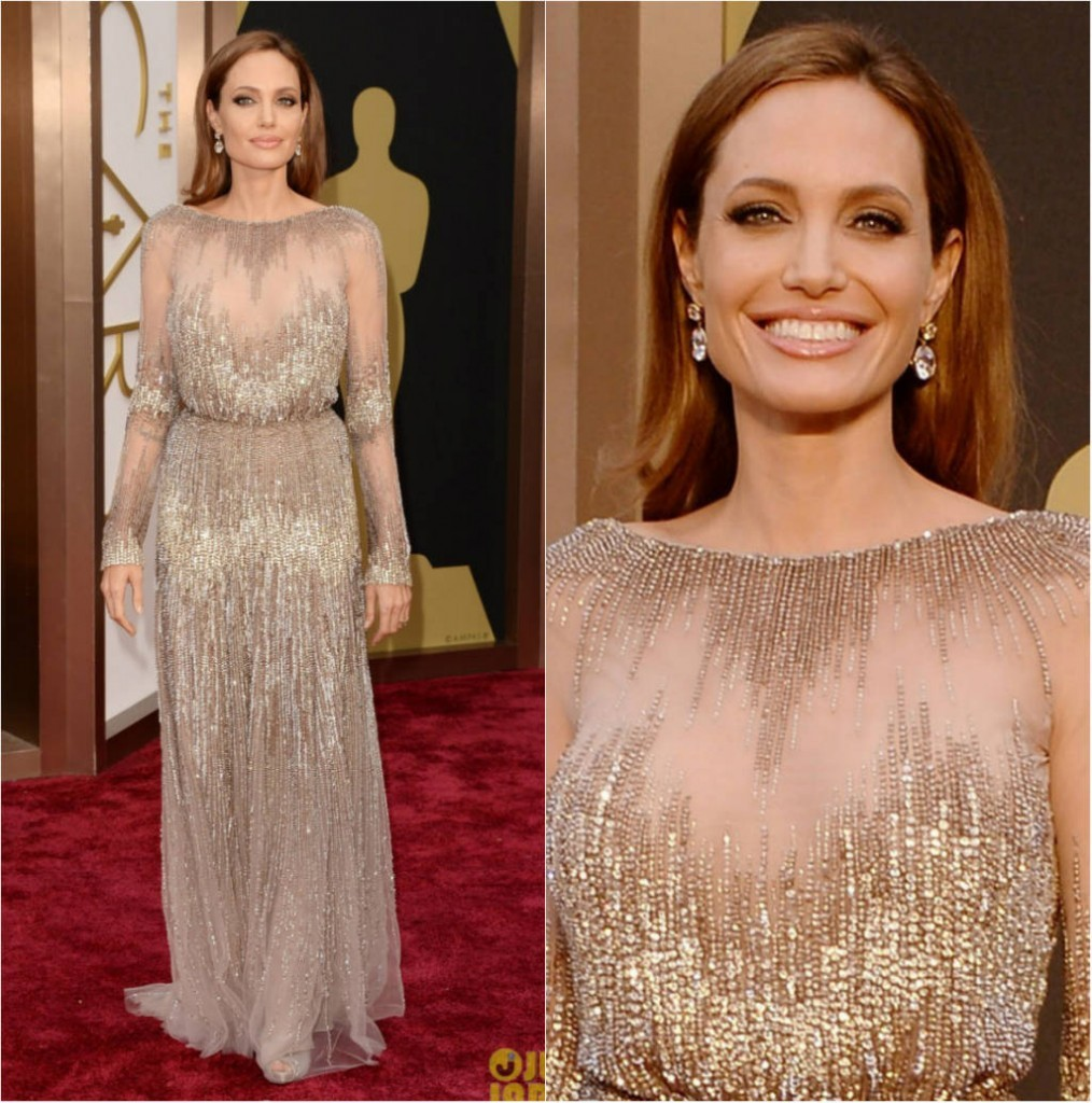 Entre os looks do Oscar 2014 destaca-se o de Angelina Jolie