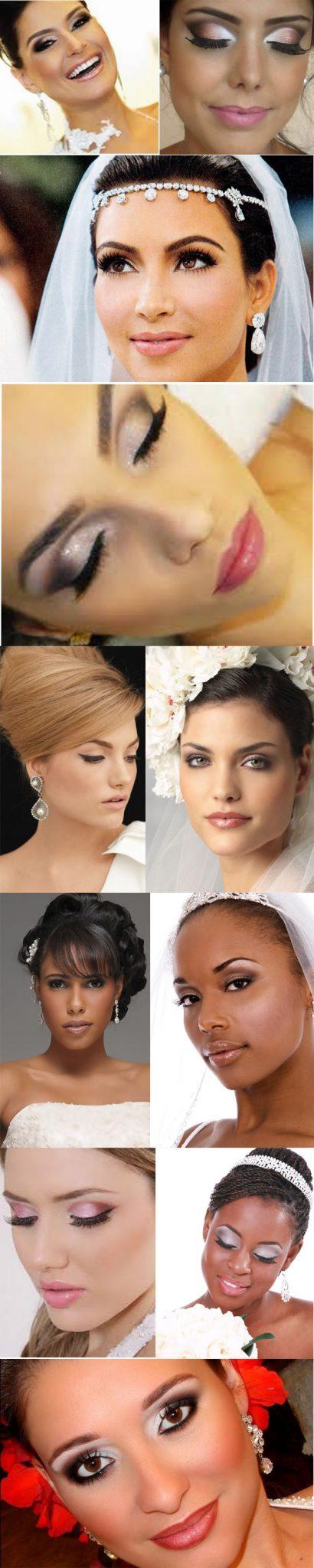 modelos de Make-up para noivas