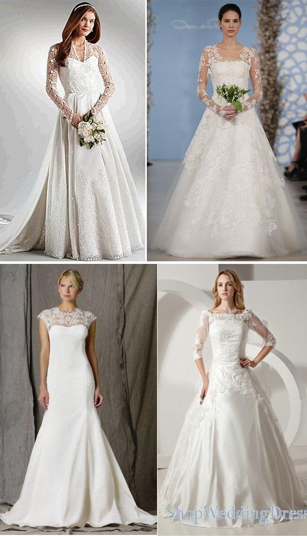 vestidos de noivas com tule ilusion