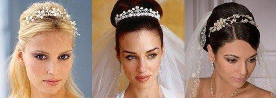 tiaras são os acessórios de cabelo para noivas preferidos