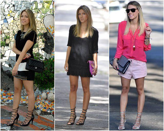 moda das sandálias de amarração