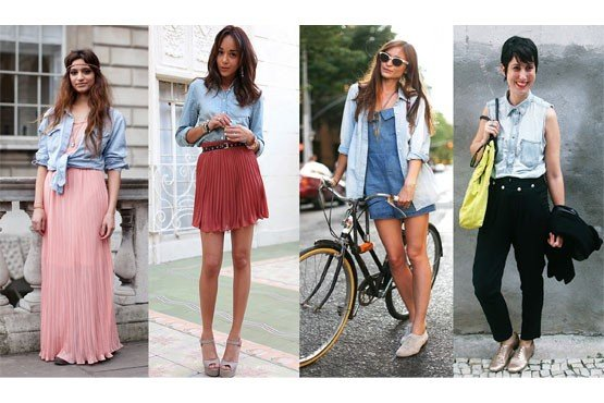look casual com camisa jeans
