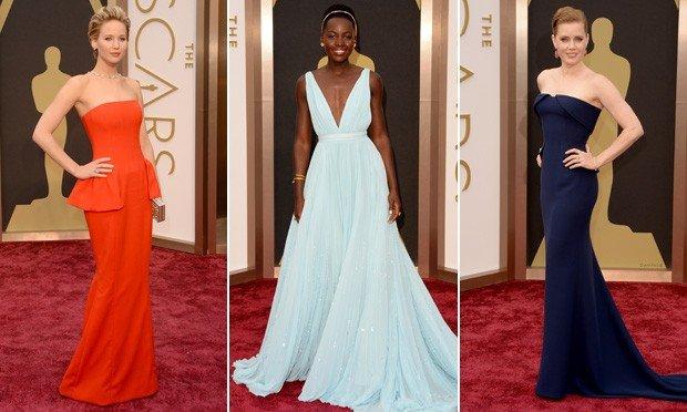 atrizes mostram seus looks do Oscar 2014