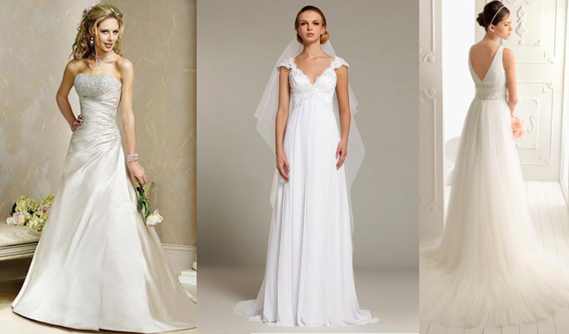 Vestido longo branco para baixinhas