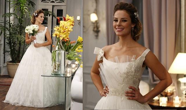 vestidos de noiva das novelas estilo romântico