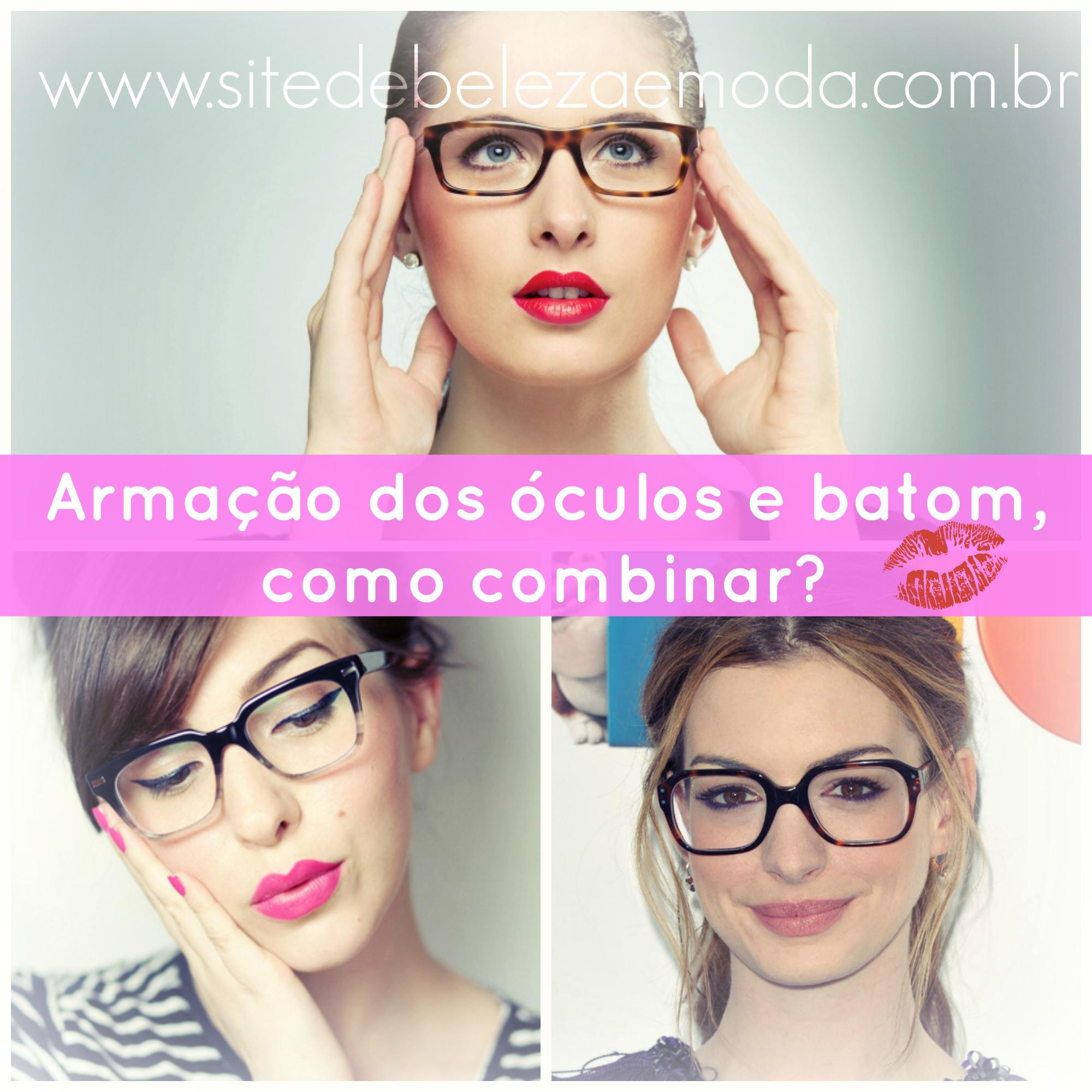1af0d191a84a2 Armações dos óculos e batom