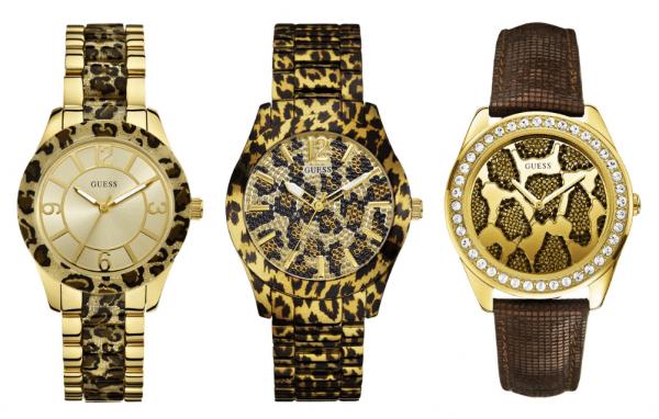 relógios com estampas animal print