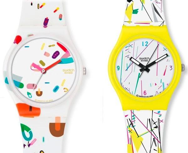 Relógios com desenhos, figuras e detalhes no visor;