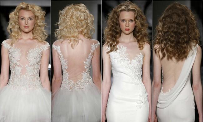 tendências de vestidos de noiva 2014 com bordados assimétricos