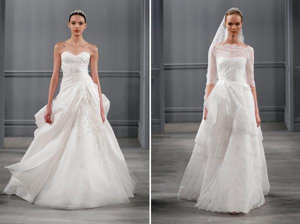 tendências de vestidos de noiva 2014 no estilo romântico