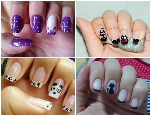 Como fazer as unhas decoradas de bichinhos