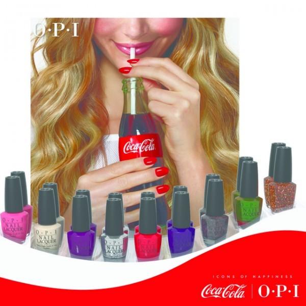 Coca-Cola lança coleção de esmaltes em parceria com a OPI