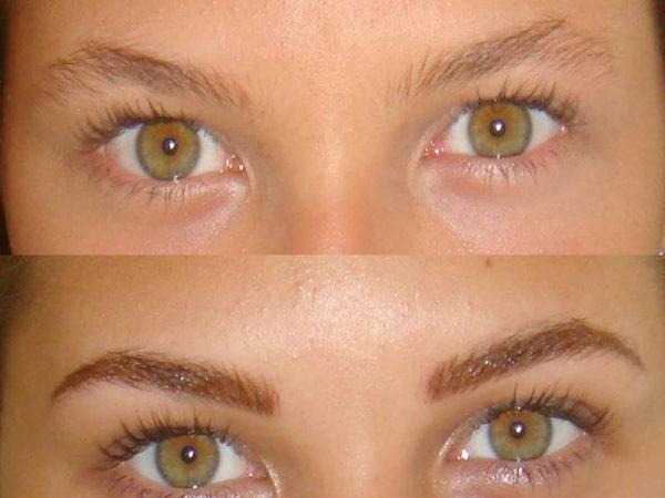 transformação com maquiagem definitiva