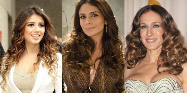 fotos para inspirar mechas em cabelos cacheados