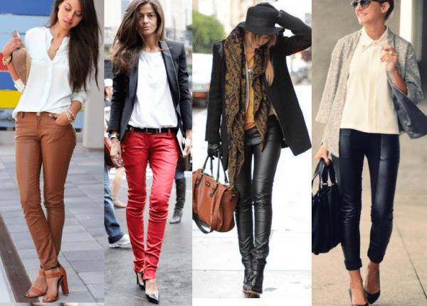 modelos de calcas de couro femininas