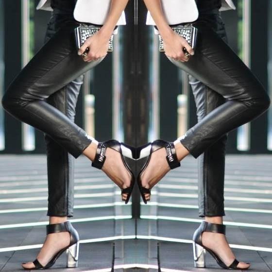 Aposte na tendência das calças de couro