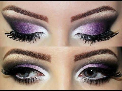 Maquiagem roxa