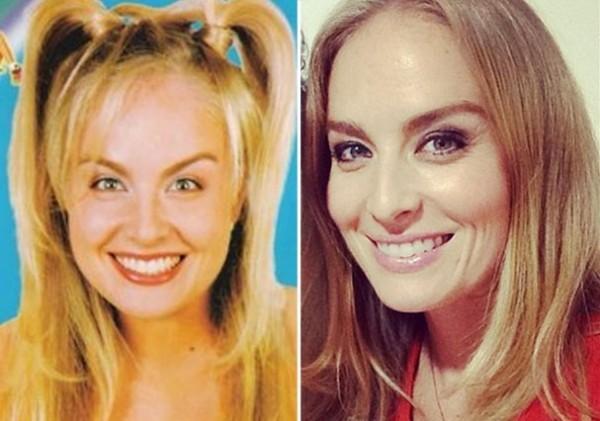 Angelica antes e depois de sobrancelhas bold