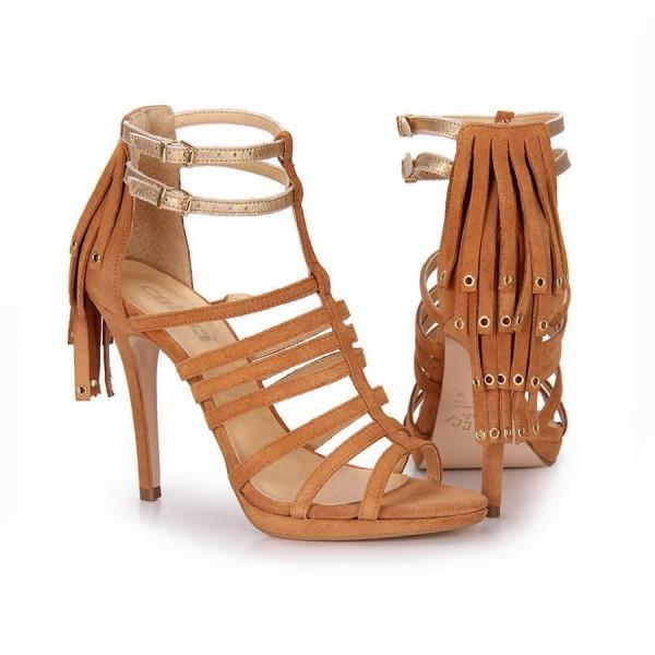 calçados verão 2015 Franjas