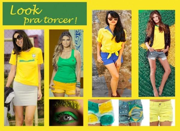 look verde e amarelo da torcida brasileira