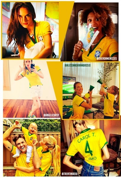 look verde e amarelo das famosas