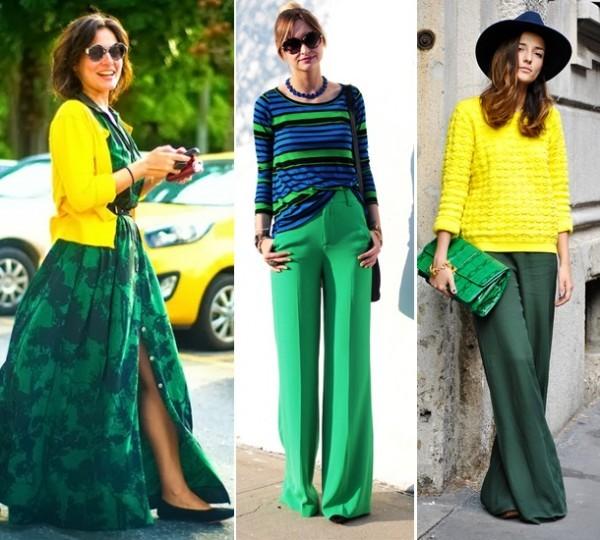 look verde e amarelo para o trabalho