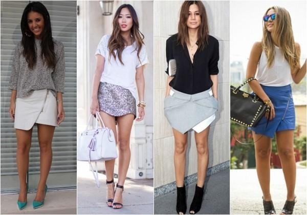 Mini saia assimétrica primavera verão 2015
