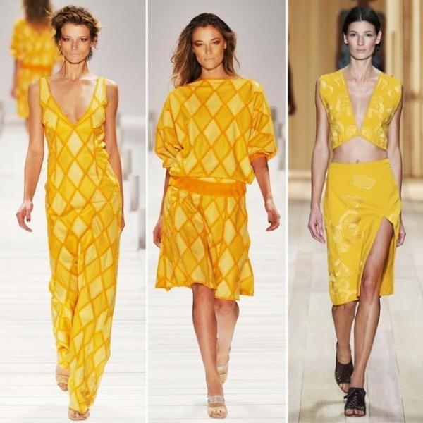 amarelo entre as tendências para a Primavera/Verão 2015