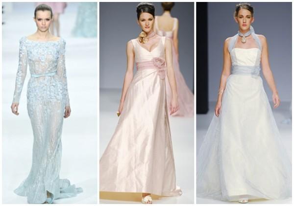 vestidos de noiva modernos e coloridos