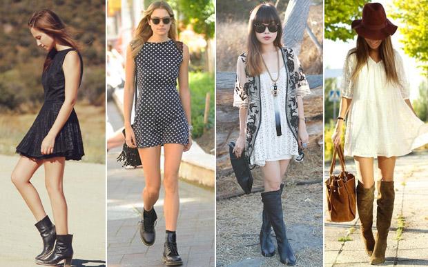 Looks com vestidos de verão no inverno