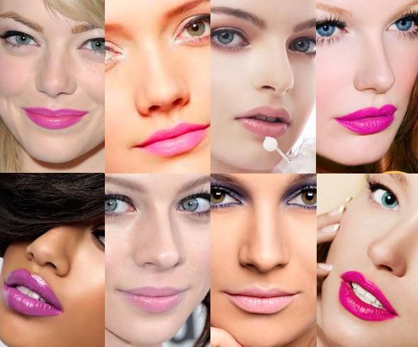 batom rosa ideal para seu tom de pele
